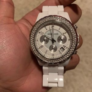 White Ceramic Michael Kors watch